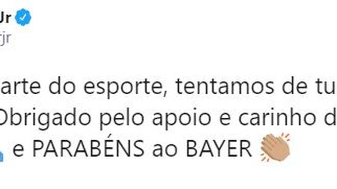 Neymar gratuliert Bayer Leverkusen zum CL-Titel