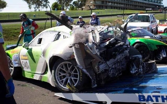 Der Black-Swan-Porsche hatte nach dem Feuer nur noch Schrottwert