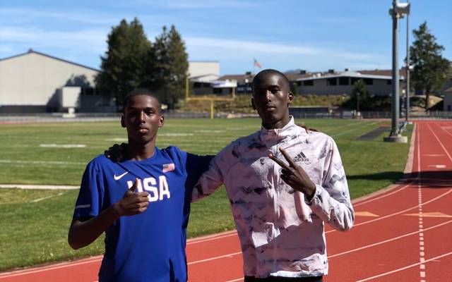 Yassin Mohumed (l.) und Mohamed Mohumed (r.) 2019 im Trainingslager in den USA