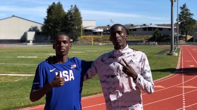Yassin Mohumed (l.) und Mohamed Mohumed (r.) 2019 im Trainingslager in den USA