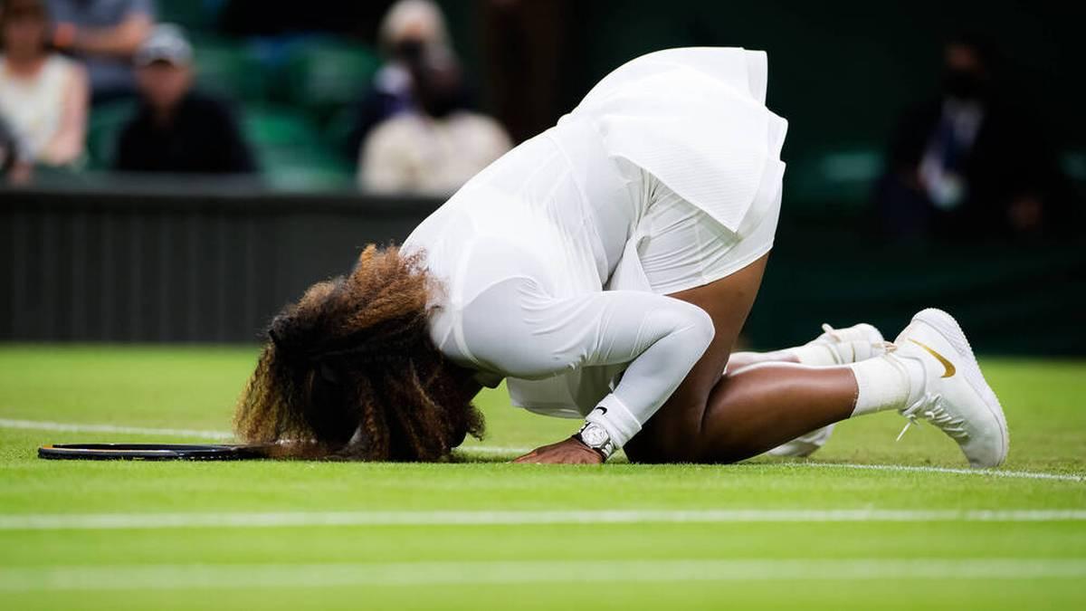 Serena Williams musste in Wimbledon verletzt aufgeben