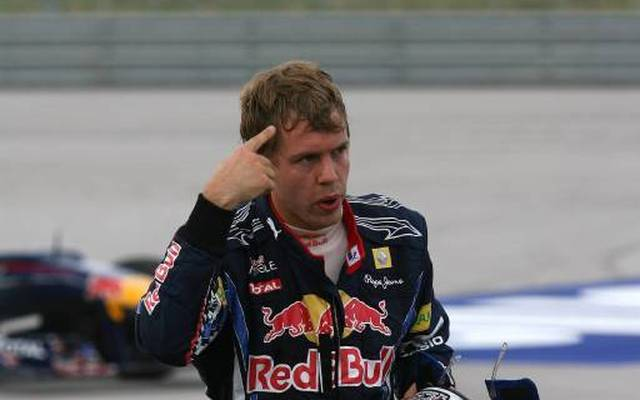 Sebastian Vettel (Bild) gab Mark Webber die Schuld an dem Unfall