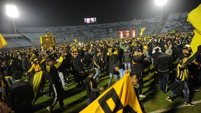 Ein Fan des Klubs Penarol aus Montevideo war bei Ausschreitungen gestorben