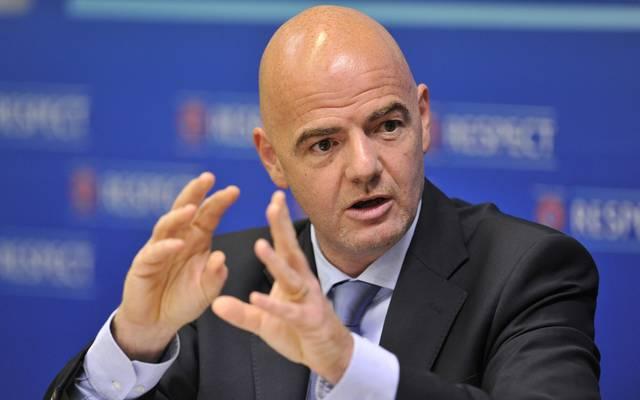 DFB wird bei FIFA-Kongress für FIFA-Boss Gianni Infantino stimmen, FIFA-Präsident Gianni Infantino stellt sich am Mittwoch zur Wiederwahl