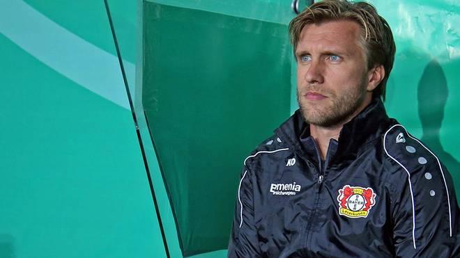 Bayers Co-Trainer Markus Krösche übernahm in Lotte das Coaching für den gesperrten Roger Schmidt