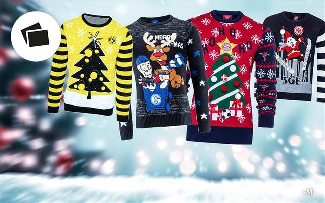 Die Ugly Christmas Sweater der Bundesliga-Klubs