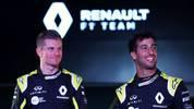 Daniel Ricciardo (r.) und Nico Hulkenberg von Renault sehen sich aktuell mit Betrugs-Vorwürfen konfrontiert