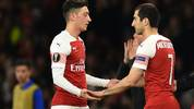Henrikh Mkhitaryan (r.) wird Arsenal wohl in Richtung Italien verlassen