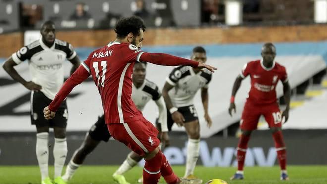 Mohamed Salah rettete dem FC Liverpool beim FC Fulham zumindest einen Punkt