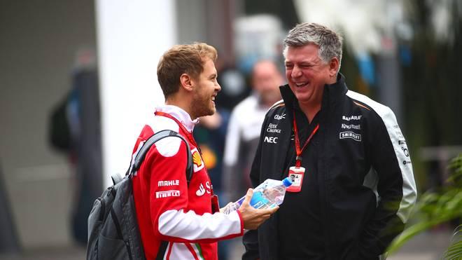 Otmar Szafnauer (r.) ist Teamchef von Aston Martin und damit Sebastian Vettel