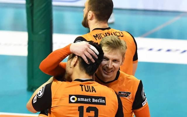 Die BR Volleys freuen sich über den Final-Einzug