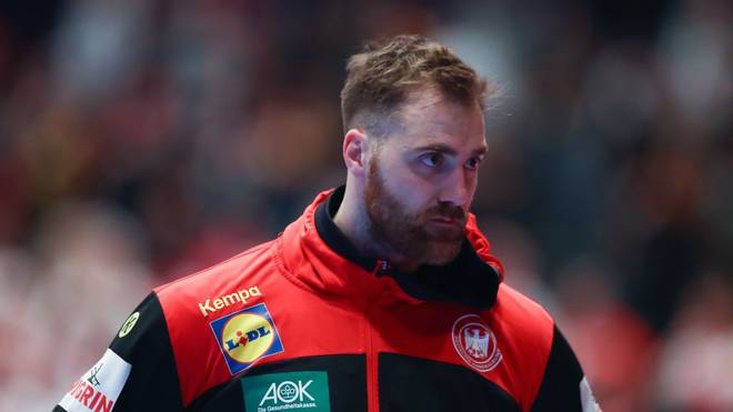 VIENNA, AUSTRIA - JANUARY 18: Andreas Wolff of Germany looks dejected at the end of the Men's EHF EURO 2020 main round group I match between Croatia and Germany at Wiener Stadthalle on January 18, 2020 in Vienna, Austria. (Photo by Martin Rose/Bongarts/Getty Images)