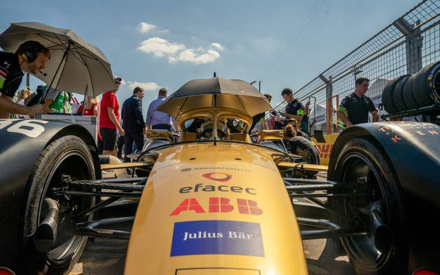 NEW YORK, NY - JULY 13: DS Techeetah's Andre Lotterer on the grid prior to the Formula E Racing Championship on July 13, 2019 in Brooklyn borough of New York City. (Photo by David Dee Delgado/Getty Images)