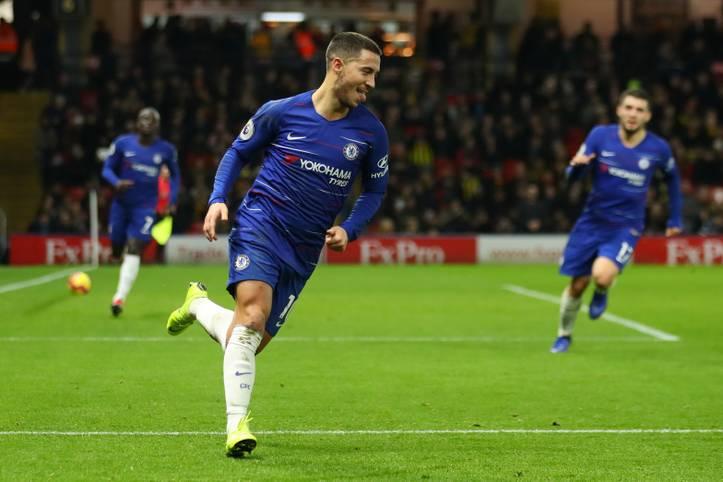 Mit seinem Doppelpack beim Sieg im Auswärtsspiel beim FC Watford hat sich Eden Hazard in einen elitären Kreis geschossen: Alle Wettbewerbe zusammengenommen, hat der Belgier nun über 100 Tore für den FC Chelsea erzielt