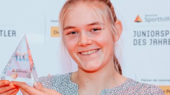 Alexandra Föster wurde als erste Ruderin mit dem Einzeltitel ausgezeichnet