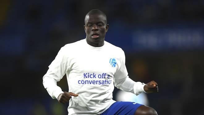 N'Golo Kante vom FC Chelsea nimmt wieder am Mannschaftstraining teil