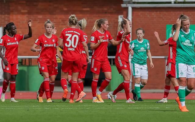 Bayerns Frauen setzten sich souverän gegen Bremen durch