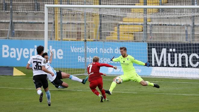 Fabio Kaufmann erzielte das entscheidende Tor für die Würzburger Kickers