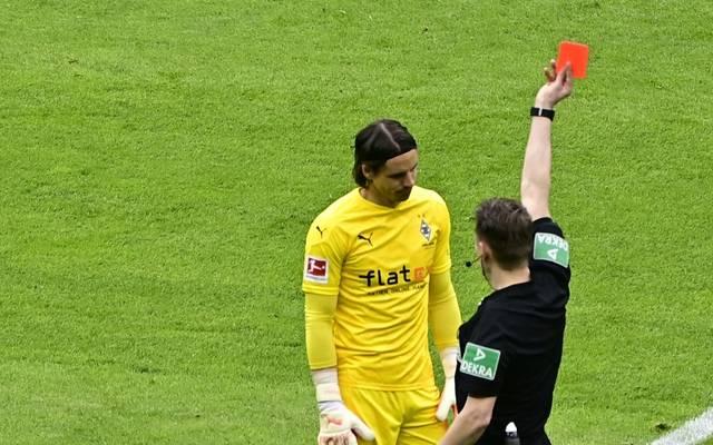 Nach einer Notbremse sah Yann Sommer die Rote Karte