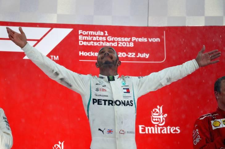 Lewis Hamilton schlägt zurück: Nach dem verpassten Heimsieg in Silverstone feiert der Weltmeister in Hockenheim seinen vierten Saison-Erfolg