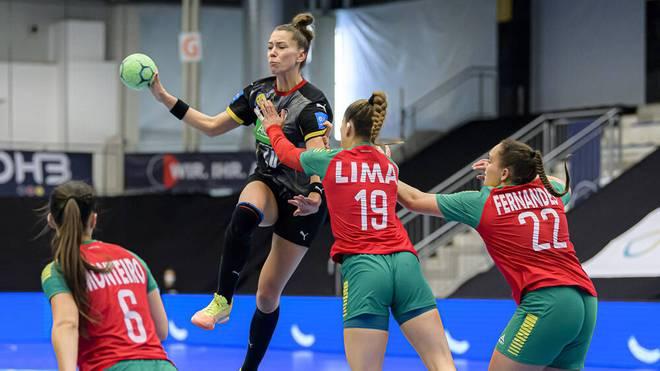 Emily Bölk im WM-Quali-Spiel gegen Portugal