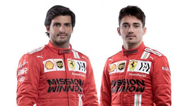 Carlos Sainz (l.) und Charles Leclerc sind das neue Fahrer-Duo bei Ferrari