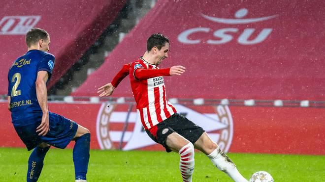 Adrian Fein überzeugt in seiner Einsatzzeit bei der PSV vor allem offensiv