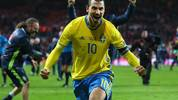 COPENHAGEN, DENMARK - NOVEMBER 17:  Zlatan Ibrahimovic of Sweden celebrates after the UEFA EURO 2016 Qualifier Play-Off Second Leg match between Denmark and Sweden at Parken Stadium on November 17, 2015 in Copenhagen, Denmark.  (Photo by Alex Livesey/Getty Images)