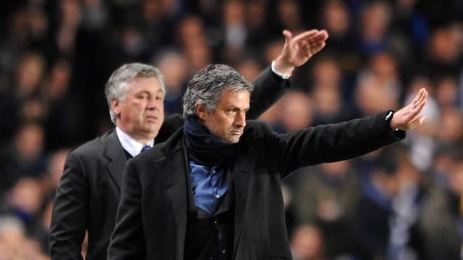 Man kennt sich, man schätzt sich: José Mourinho (vorne) und Carlo Ancelotti