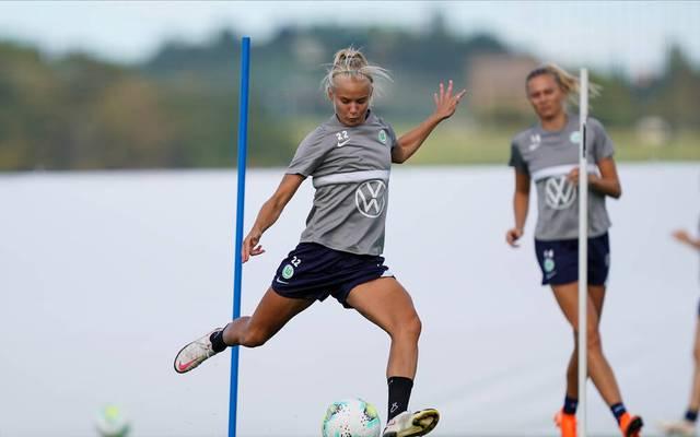Pernille Harder im Training des VfL Wolfsburg