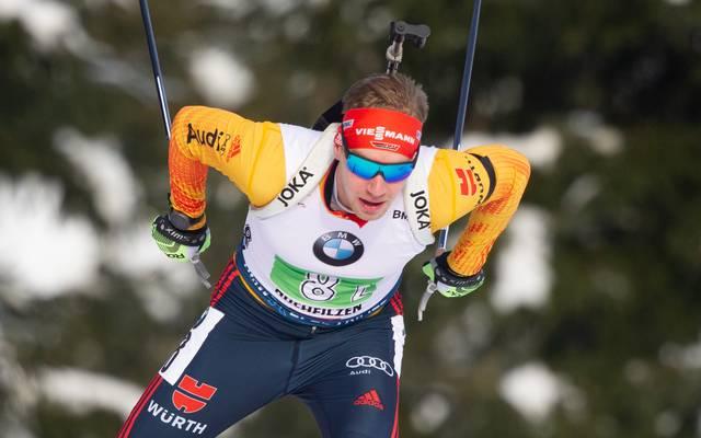Johannes Kühn steht im Biathlon-Gesamtweltcup auf Platz 15