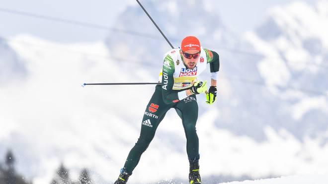 Johannes Rydzek lief mit der deutschen Staffel auf Platz zwei