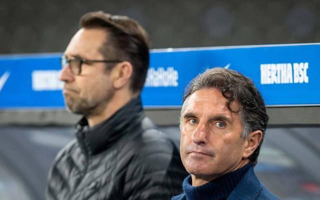 Trainer Bruno Labbadia und Manager Michael Preetz mussten bei Hertha gehen