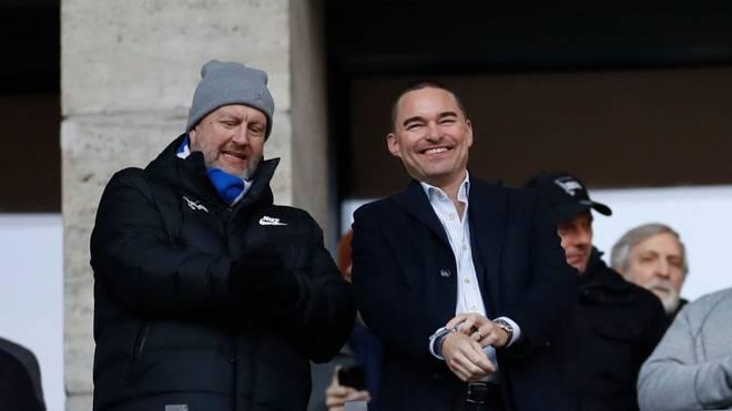 Lars Windhorst (rechts) träumt beim Stadion-Neubau von Hertha BSC in großen Dimensionen