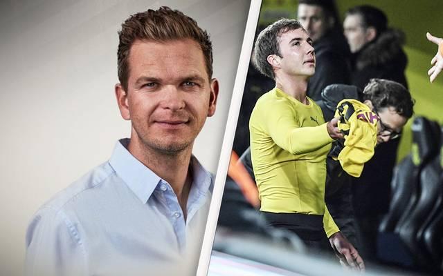 SPORT1-Chefkolumnist Tobias Holtkamp (l.) wünscht sich einen angemessenen BVB-Abschied für Mario Götze