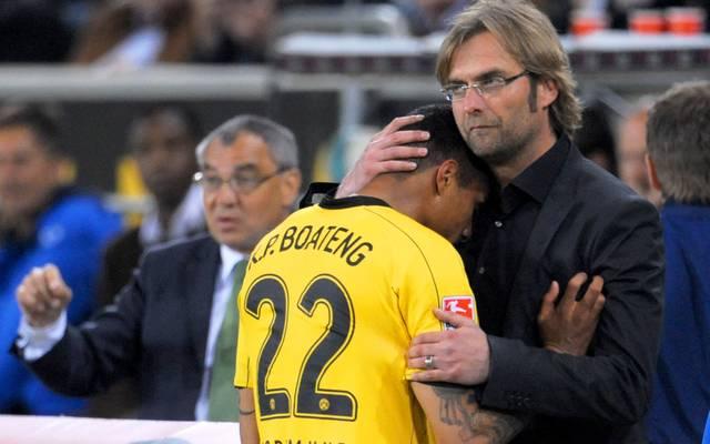 Kevin-Prince Boateng und Jürgen Klopp arbeiteten beim BVB zusammen