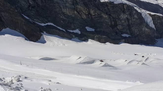 Das Sommer Setup im Snowpark Saas-Fee im Überblick (2019)