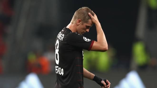 Lars Bender von Bayer 04 Leverkusen in der Bundesliga gegen SV Werder Bremen fraglich
