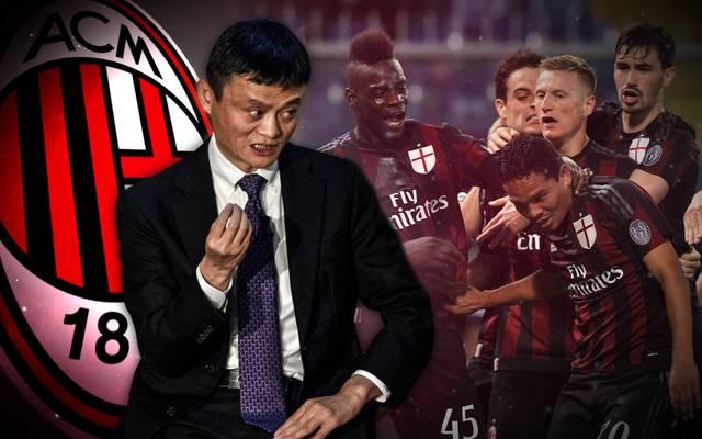 Milliardär Jack Ma (l.) steht vor einem Investment in den AC Milan