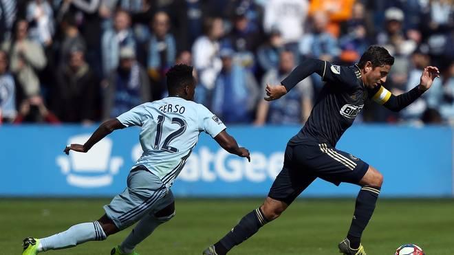 Alejandro Bedoya (rechts) machte seinem Unmut während eines MLS-Spiels Luft
