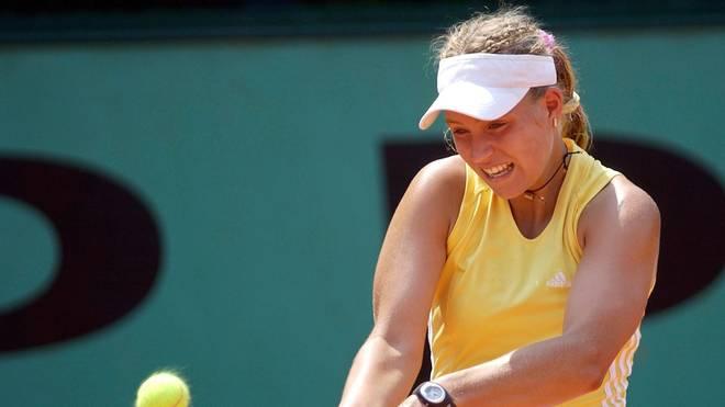 2003 spielt Angelique Kerber im Juniorinnen-Bewerb der French Open mit