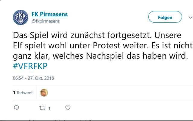 Über den Vorfall bei VfR Wormatia Worms gegen FK Pirmasens muss der DFB entscheiden. Auch die Beteiligten sind unsicher, welche Konsequenzen der Vorfall haben wird