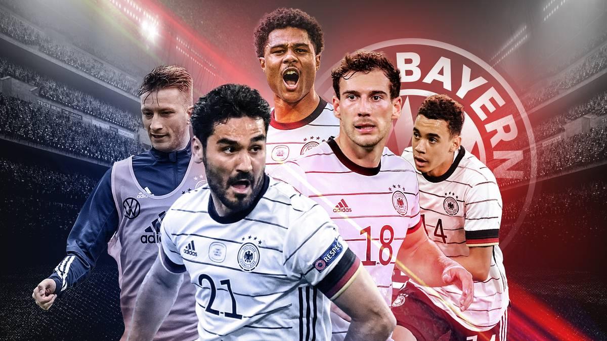 Besteht das DFB-Mittelfeld künftig nur noch aus Bayern-Spielern? Marco Reus und Ilkay Gündogan sehen sich einem starken Block des Rekordmeisters gegenüber.
