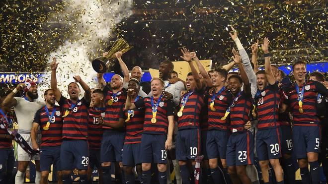 Das Nationalteam der USA gewinnt den Gold Cup gegen Jamaika