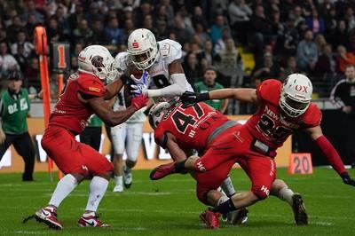 Im Playoff-Viertelfinale der GFL kommt es zum  Kracher. Der Rekordmeister NewYorker Lions Braunschweig empfängt die Schwäbisch Hall Unicorns um Moritz Böhringer.