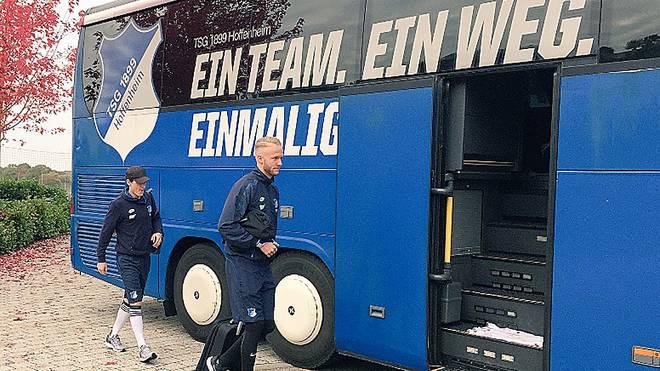 Die Hoffenheimer müssen ohne Nummerschild zum Pokalspiel nach Köln fahren