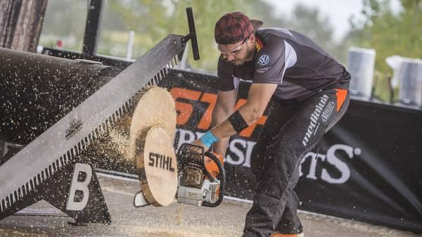 Viele verschiedene Geräte kommen beim Timbersports zum Einsatz