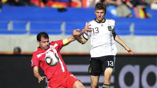 Deutschland und Serbien trafen zuletzt bei der WM 2010 aufeinander - das DFB-Team verlor