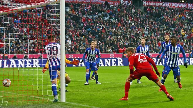 Thomas Müller erzielt am 14. Spieltag bereits seinen 13. Saisontreffer