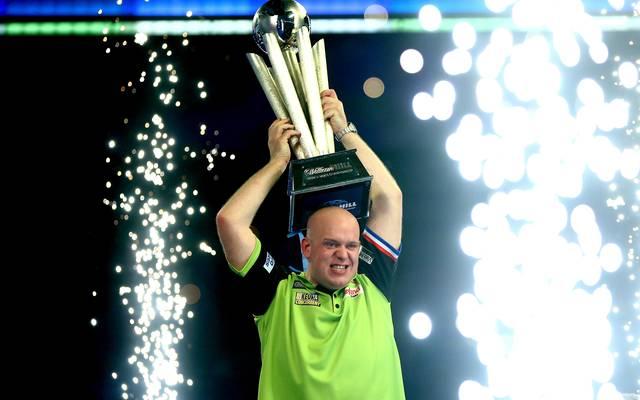 2019 William Hill World Darts Championship - Final Bei der PDC World Darts Championship bestieg Michael van Gerwen zum dritten Mal den Darts-Thron
